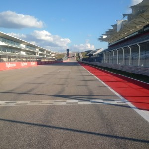 Front straight all set to go!  The COTA team has been working hard to get ready!